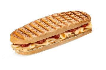 chicken & cheese with tomato panini